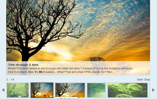 jQuery Image Slider With Thumbnail
