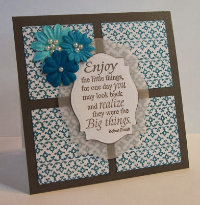ODBD Vintage Border Background and Little Things, ODBD Customer Card of the Day by Greta H.