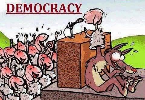 humor politik demokrasi