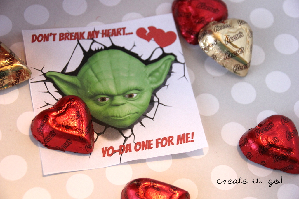 This YO DA One For Me Is Perfect! Whether You Add It To A Box Of Candy  Hearts OR Throw A Chocolate Heart On Top Of The Paper, Itu0027s So Fun And Easy  Peasy!
