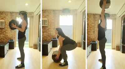 Medicine Ball Squat Thrusts
