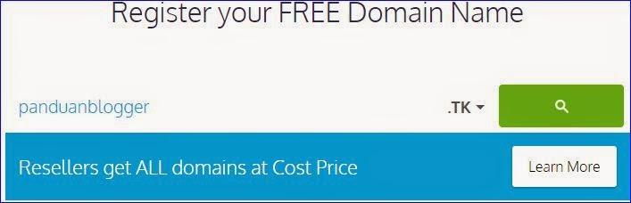 cara membuat domain di freenom
