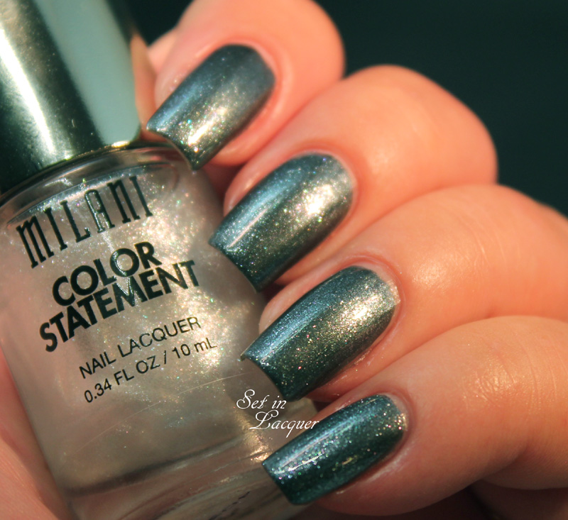 Milani Pearl-Plexed Sheer over Charcoal Charm
