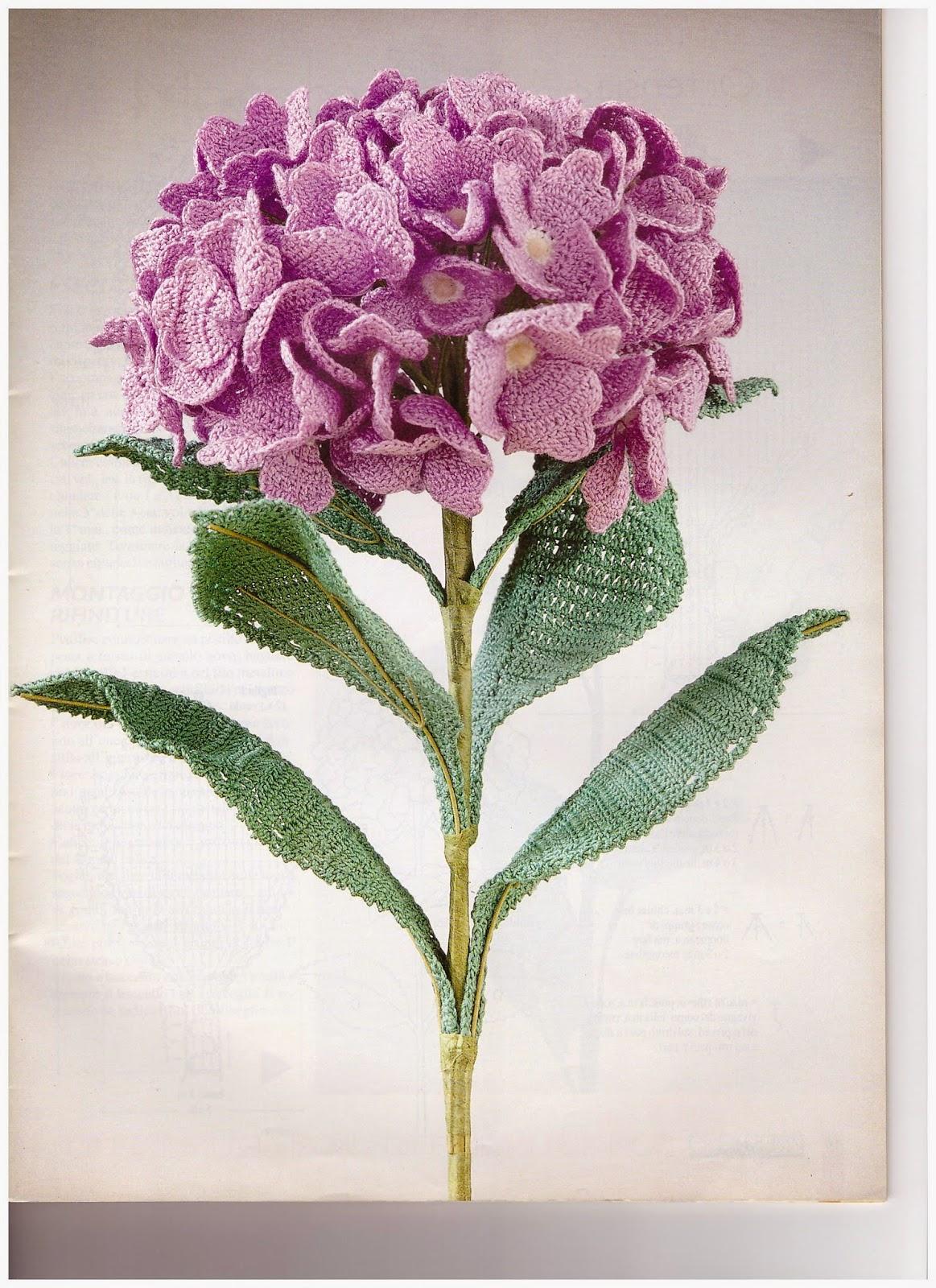 Hobby lavori femminili ricamo uncinetto maglia vari for Tipi di fiori