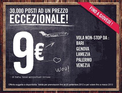voli Volotea offerta 9 euro