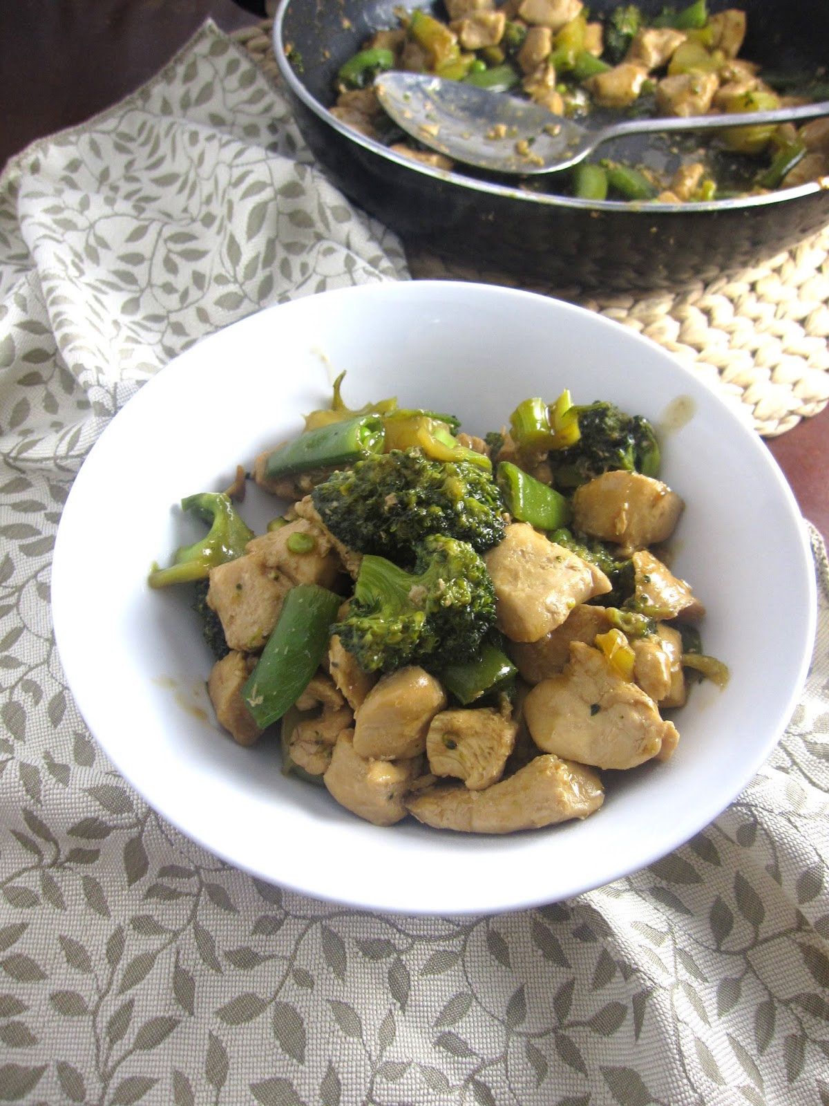 Chicken, Broccoli and Snap Peas Stir Fry