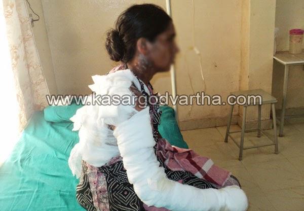 Manjeshwaram, Youth, Petrol, Liquor, husband, Housewife, Couples injured after fire