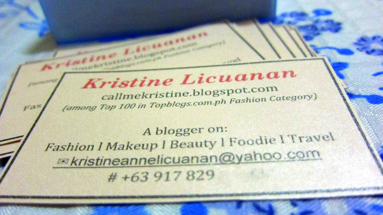 On blogging the importance of business cards for Importance of business cards