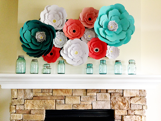 Pen paper flowers craft giant paper flowers mightylinksfo Images