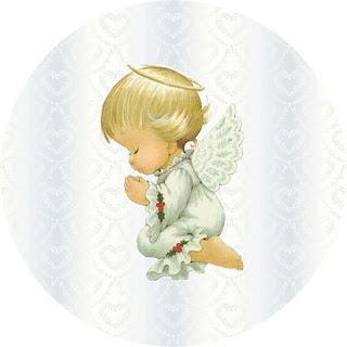 Angel rezando.