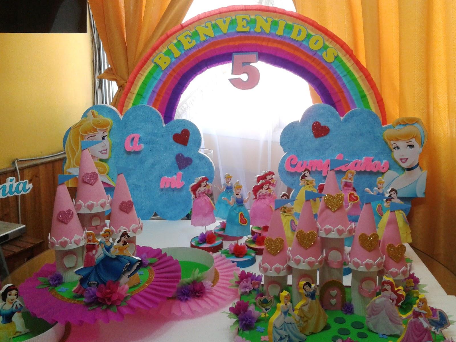 Decoraciones infantiles pack surtido princesas for Decoraciones infantiles