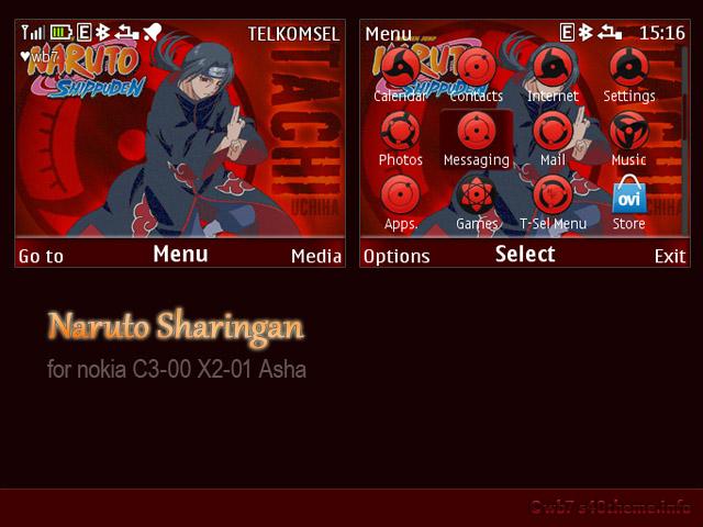 01 naruto sharingan theme i have not test this theme on nokia asha 200