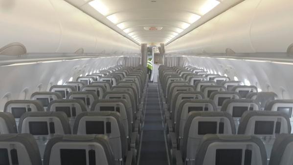 linterieur du deuxieme airbus a320 de congo airways