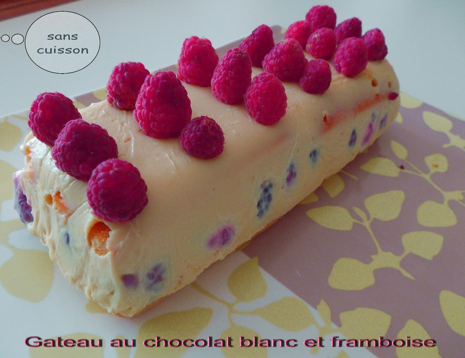 Gateau gaga love cakes gateau au chocolat blanc et aux framboises sans cuisson - Gateau au chocolat sans four ...