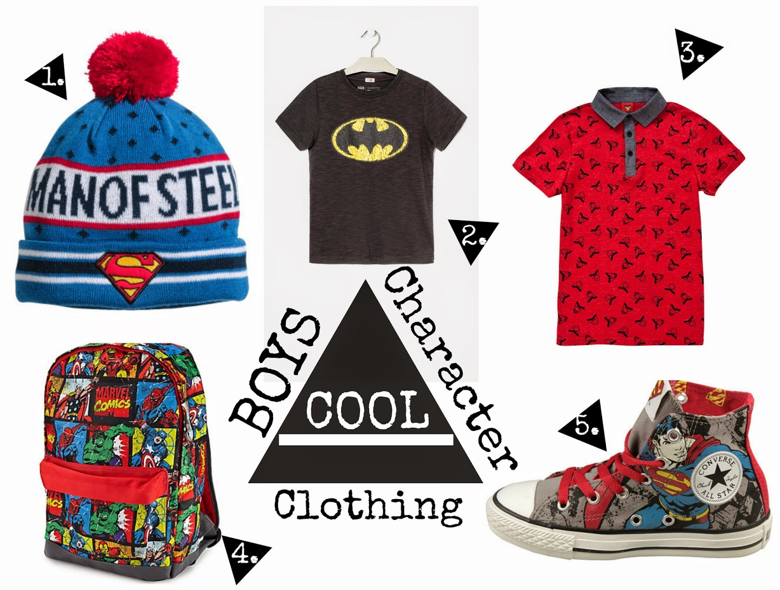 Boys Cool character clothing