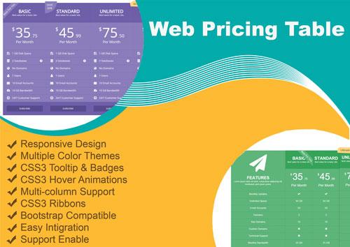 responsive html css web pricetable template knowledge hub