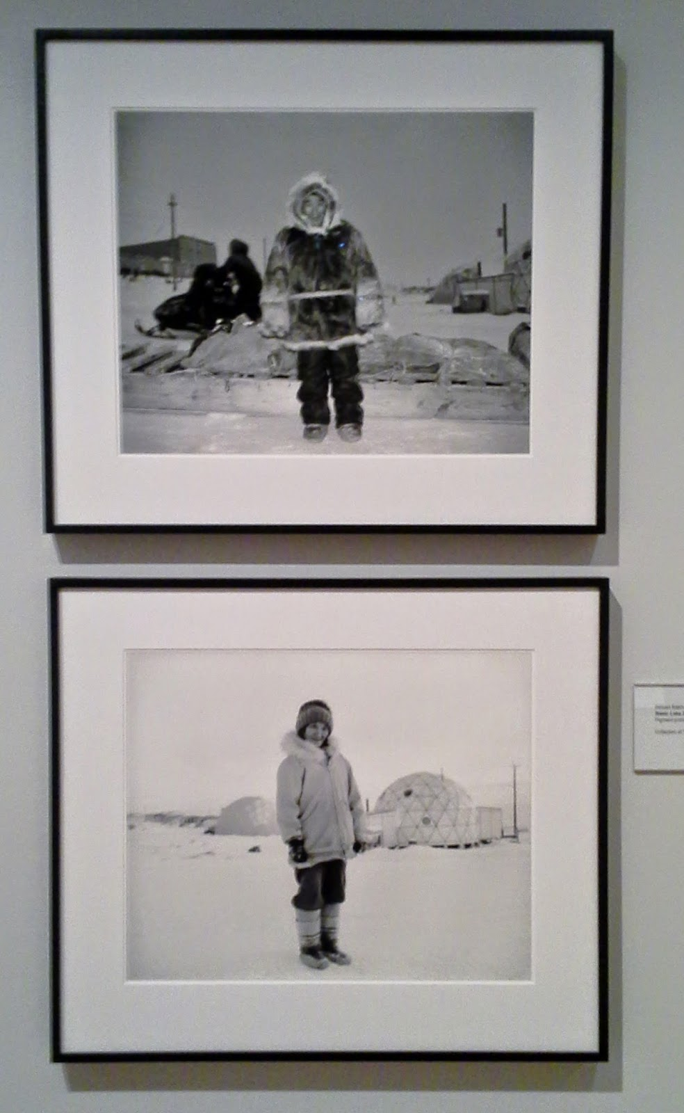 Magentic North Exhibit:, Toronto Public Reference Library, Culture, Art,Melanie.Ps, The Purple Scarf, Baker Lake Series Photographs, 1983 by William Eakin