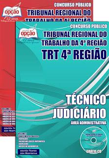 Apostila Concurso TRT RS para Técnico Judiciário - Grátis CD ROM