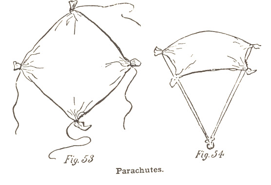 how to make paper parachute that fly