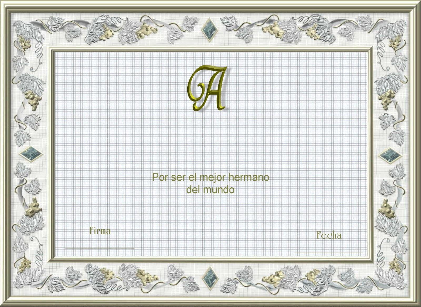 Diploma de Honor para Imprimir