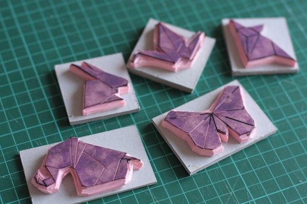 Ro Guaraz · bolsa origami · 09 · pegar cartón