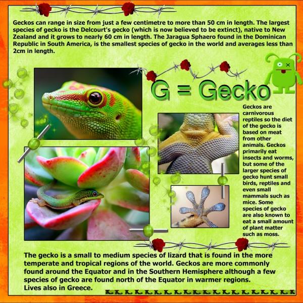 July 2016 - G = Gecko