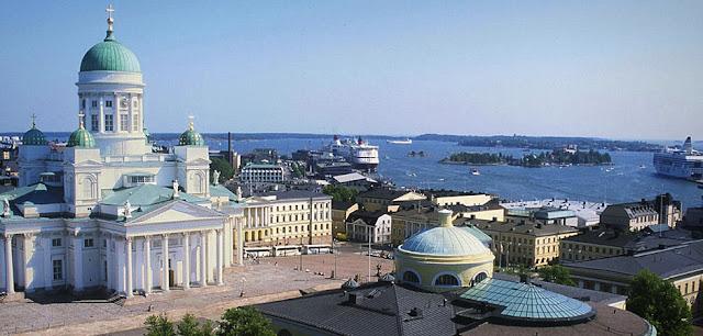 Panorámica de Helsinki en Finlandia