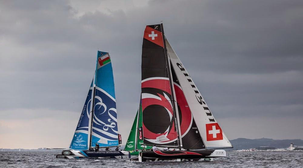 Dernier Act des Extreme Sailing Series, le titre entre Alinghi et The Wave Muscat.