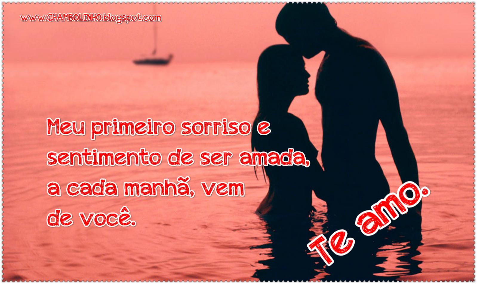 Foto Mensagem com Frase de Amor