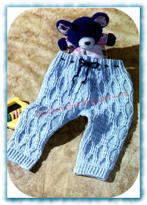 Pantaloncito para bebé a crochet - Imagui