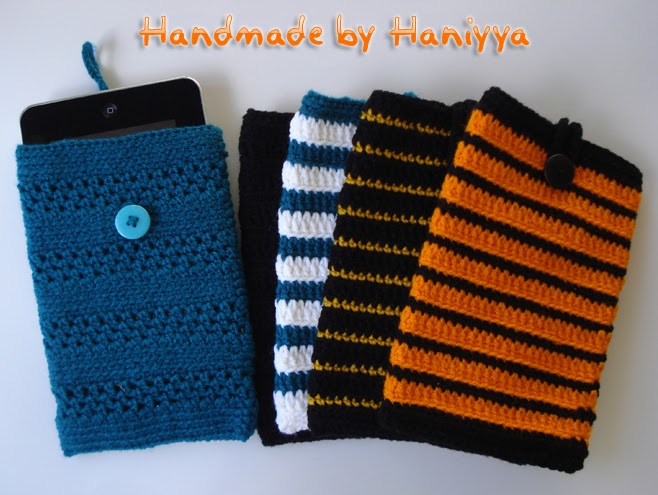 Book Cover Crochet Jacket ~ Handmade by haniyyah nook color tablet or kindle fire