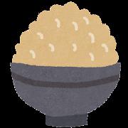 玄米ご飯のイラスト