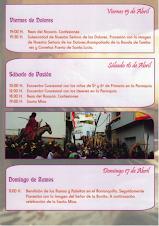 PROGRAMA DE SEMANA SANTA 2011
