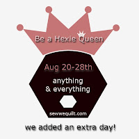 Here is the link to the whole schedule that Debby will be crowning us as hexie queens in the making