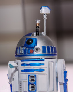 Hasbro Star Wars 2013 Toy Fair Display Pictures - The Black Series R2-D2 figure