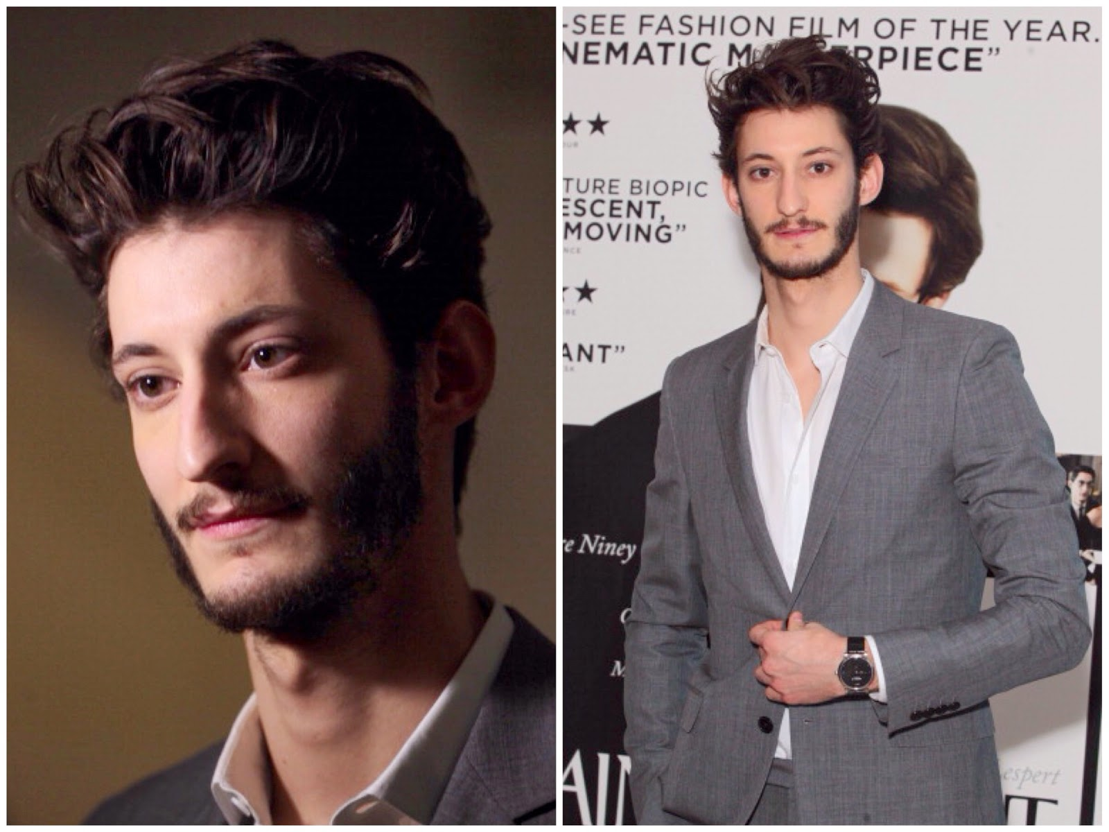 Pierre Niney's Montblanc Star Classique Timepiece - 'Yves Saint Laurent' Preview screening
