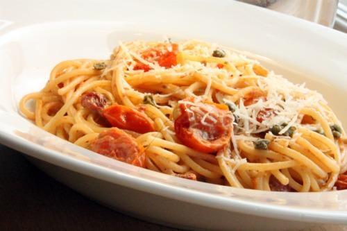 Creamy Tomato and Caper Spaghetti