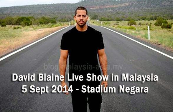 David Blaine Live Show in Kuala Lumpur Malaysia