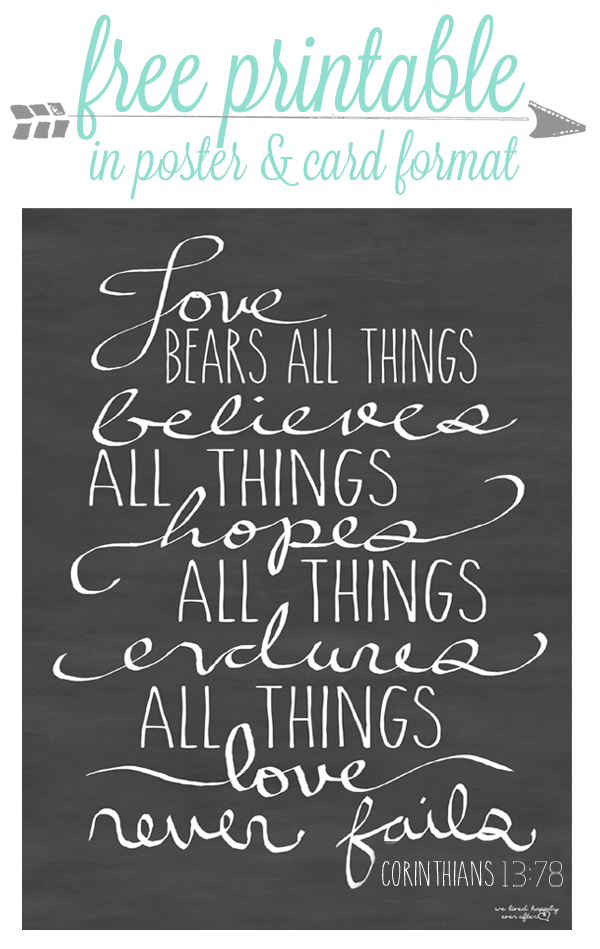 Free Love Printables | We Lived Happily Ever After