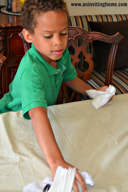 easy steps to teach your child how to wipe the table