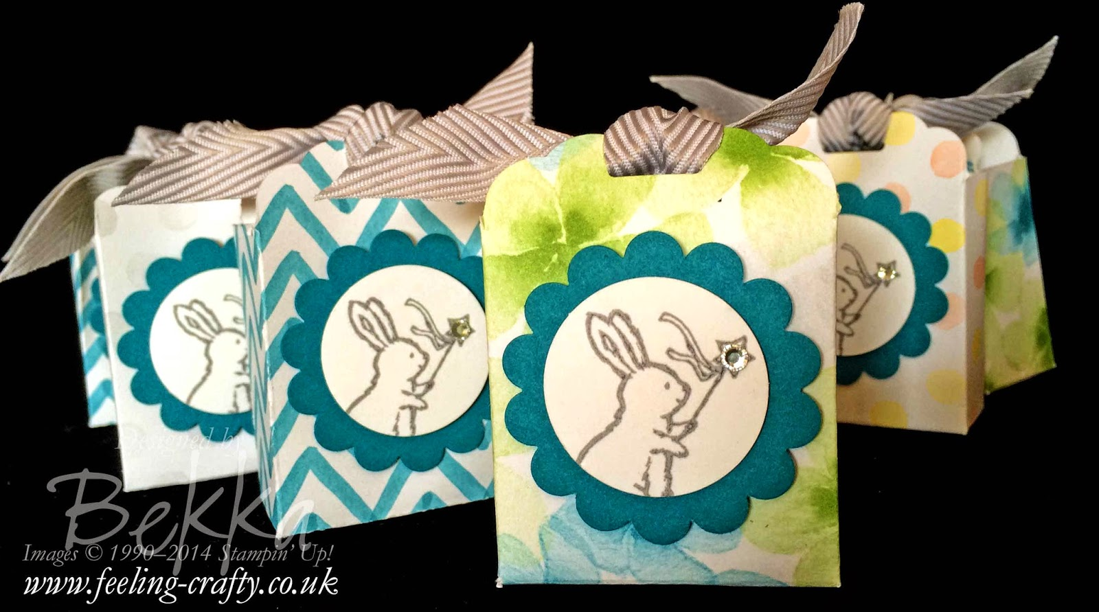 Easter Treats made with the Storybook Friends Stamps and Scallop Top Tag Punch from Stampin' Up!  Check out this blog