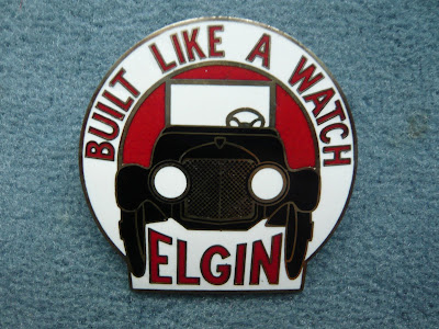 Elgin radiator emblem badge
