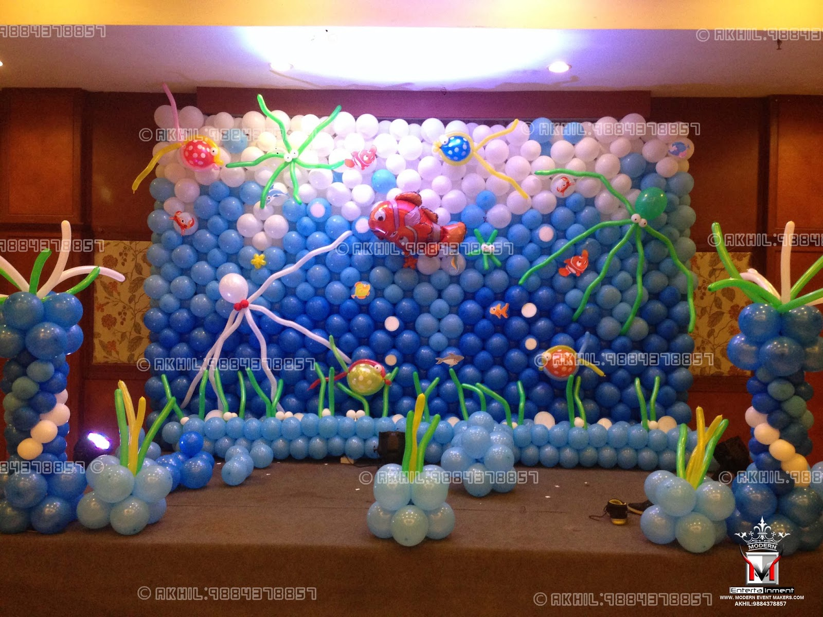 Event management company balloon decoration modern for Birthday balloon ideas