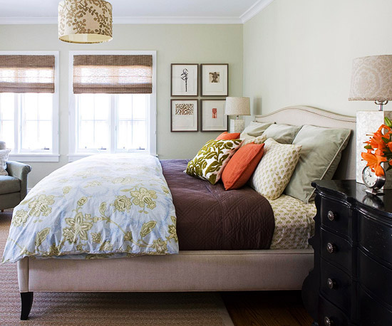 loft cottage bedroom color pattern for spring