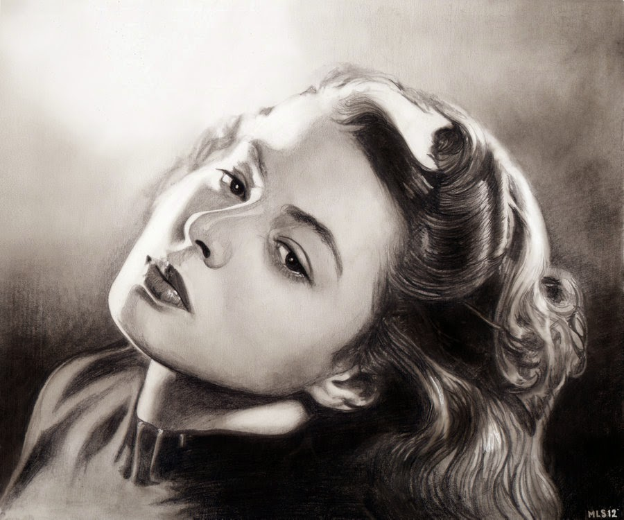 11-Ingrid-Bergman-Martin-Lynch-Smith-MLS-art-Celebrity-Drawings-www-designstack-co