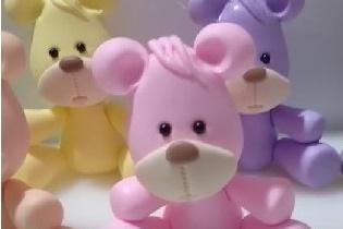 Ursinhos Fofinhos de Biscuit