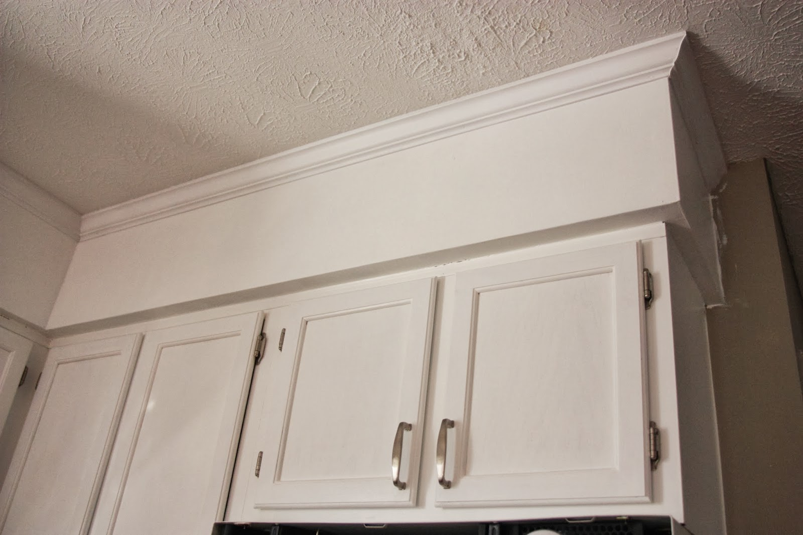 """painted kitchen soffit"""