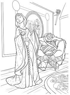 Jogos de Pintar Elinor e Fergus Valente
