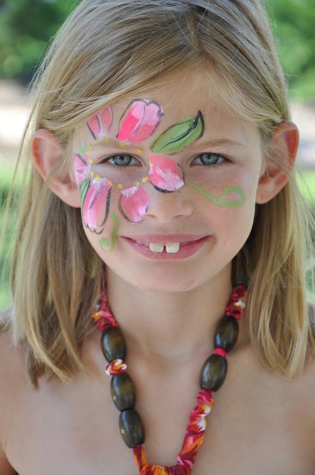 Kids Face Paint Flower