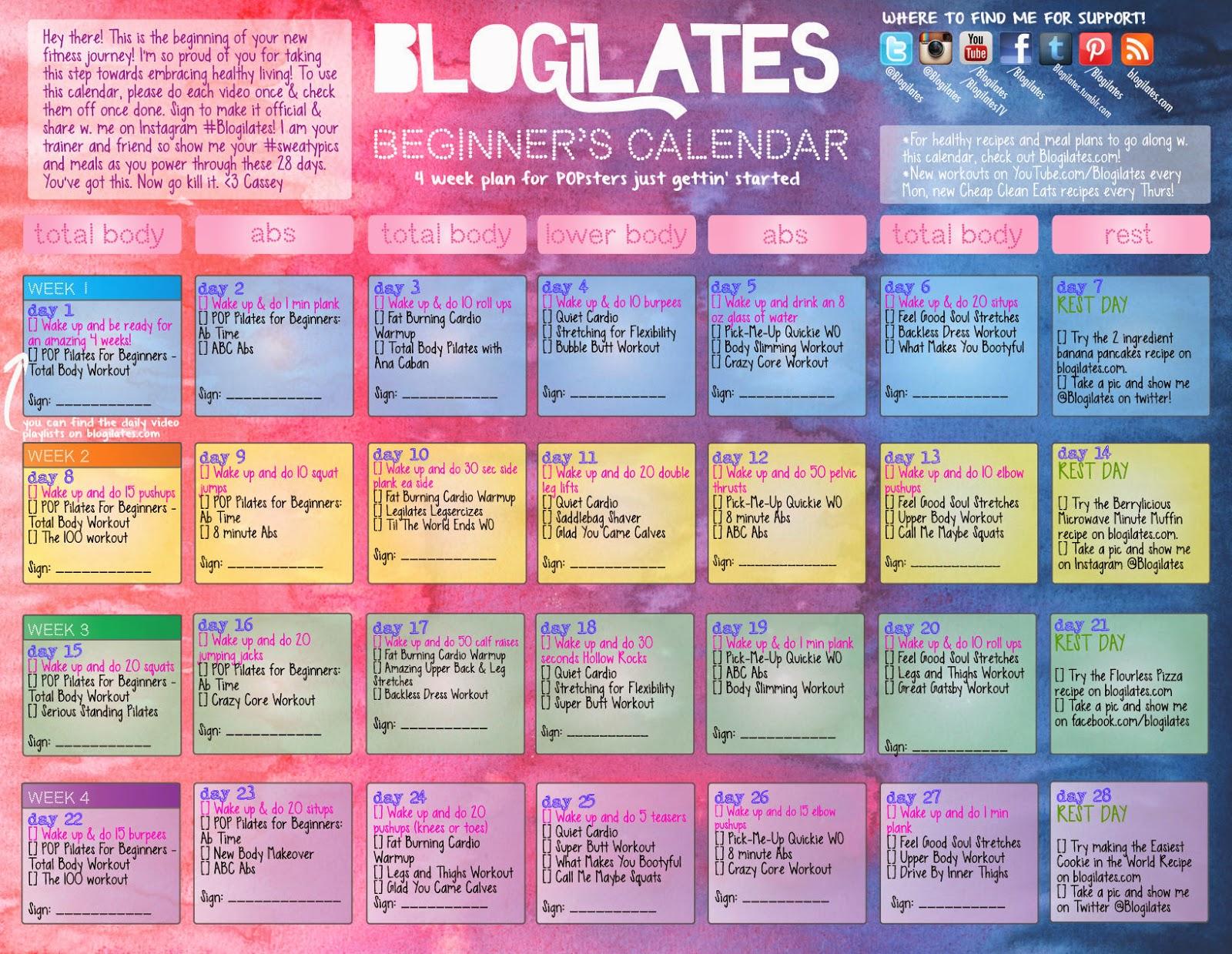 calendario freeletics